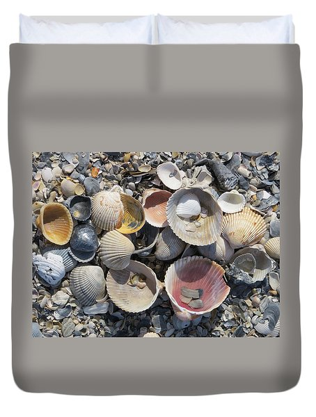 Sea Shell Mozaic Duvet Cover by Ellen Meakin