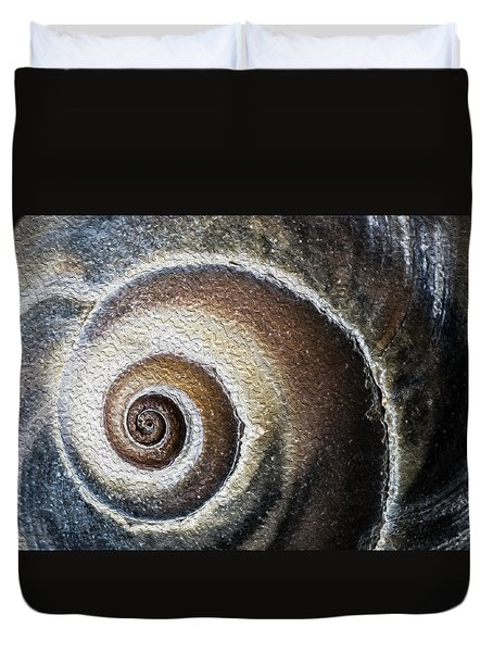 Sea Shell Rendered As Oil Duvet Cover