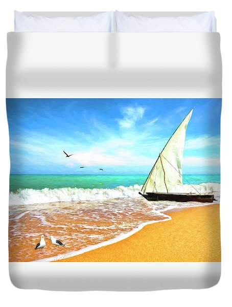 Sea Shore Duvet Cover