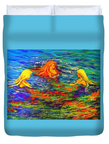 Sea Sisters Revisited Duvet Cover by Jeanette Jarmon
