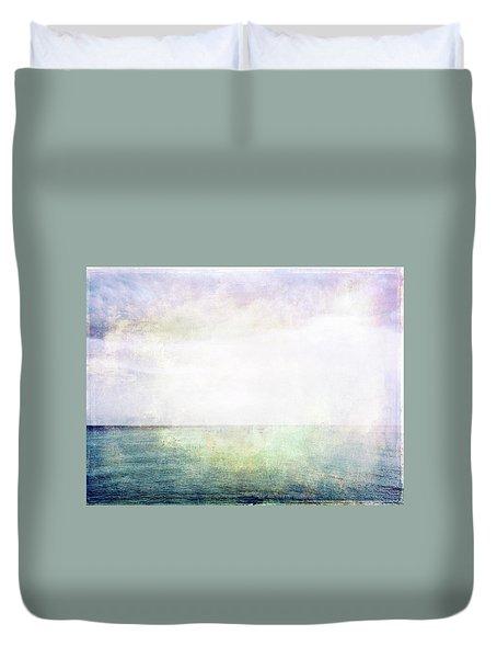 Sea, Sky And Light Grunge Image Duvet Cover