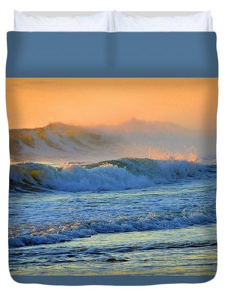 Sea Smoke Sunrise Duvet Cover by Dianne Cowen