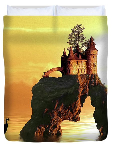 Sea Stack Castle Duvet Cover