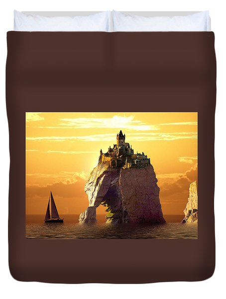Sea Stack Duvet Cover