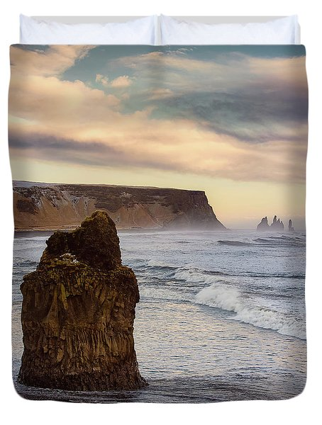 Duvet Cover featuring the photograph Sea Stack II by Allen Biedrzycki
