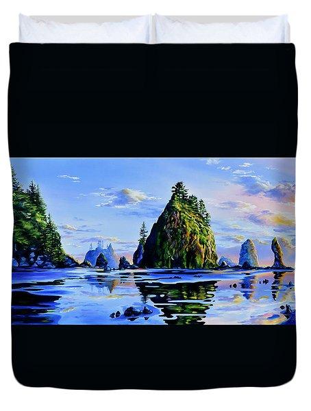Sea Stack Serenity Duvet Cover