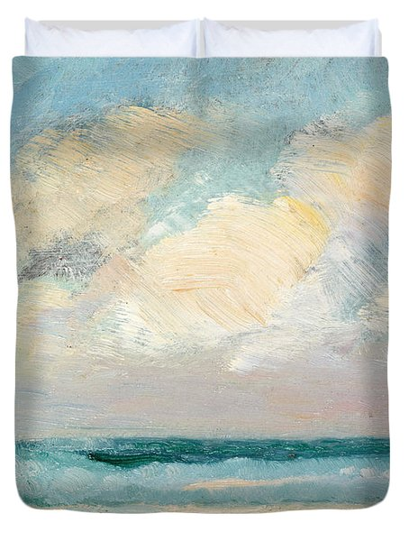 Sea Study - Morning Duvet Cover by AS Stokes