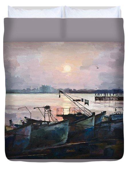 Sea Sunset Duvet Cover