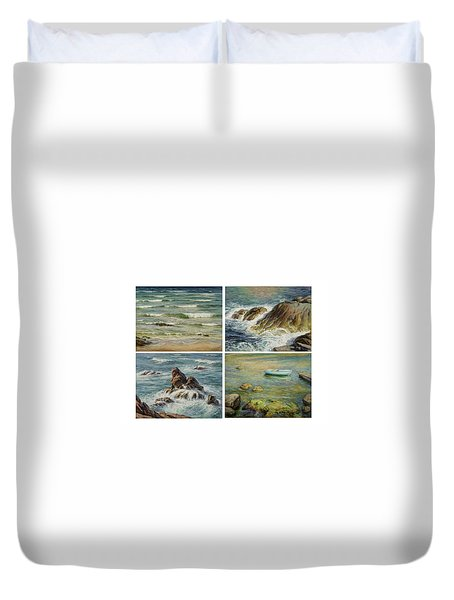 Sea Symphony. Part 1,2,3,4. Duvet Cover