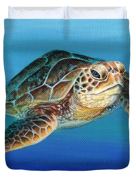 Sea Turtle 1 Of 3 Duvet Cover