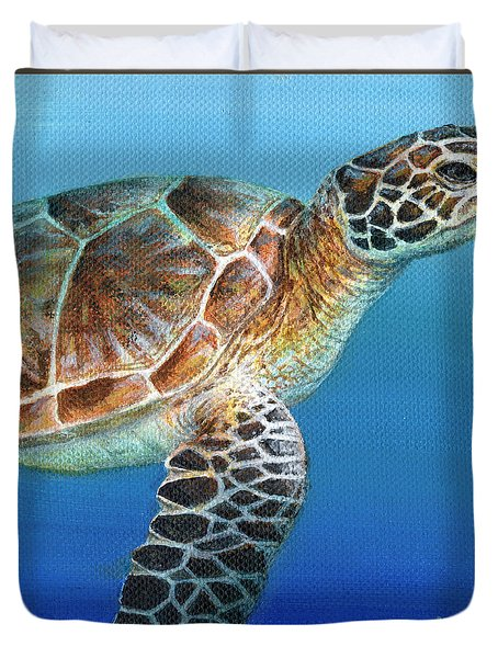 Sea Turtle 2 Of 3 Duvet Cover