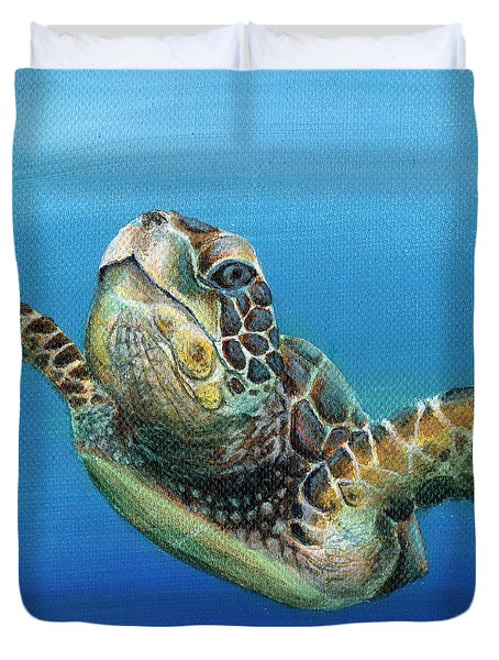 Sea Turtle 3 Of 3 Duvet Cover
