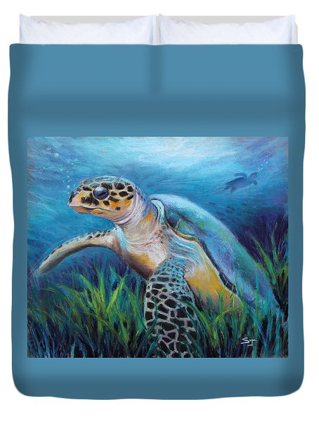 Sea Turtle Cove Duvet Cover