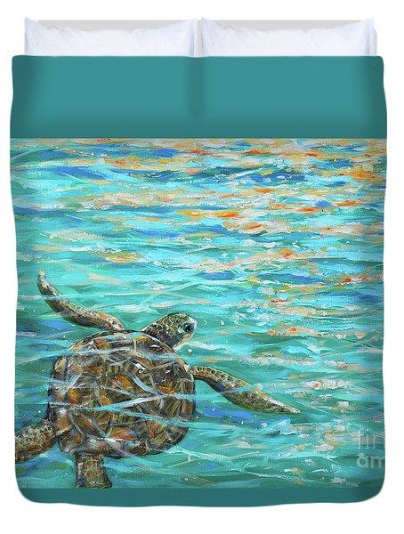Sea Turtle Dream Duvet Cover