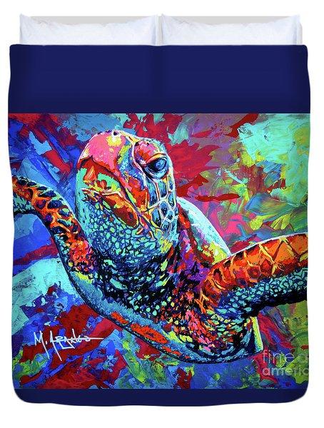 Sea Turtle Duvet Cover by Maria Arango