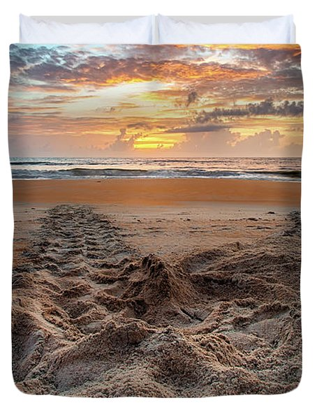 Sea Turtle Trails Duvet Cover