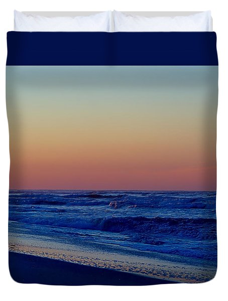 Duvet Cover featuring the photograph Sea View by  Newwwman