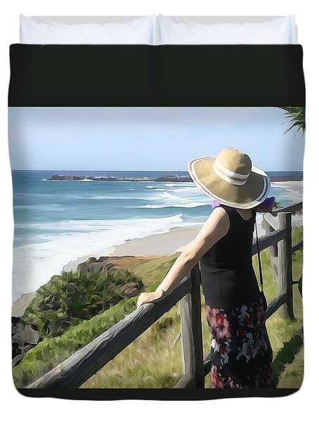 Sea Watch Duvet Cover by Dennis Cox WorldViews