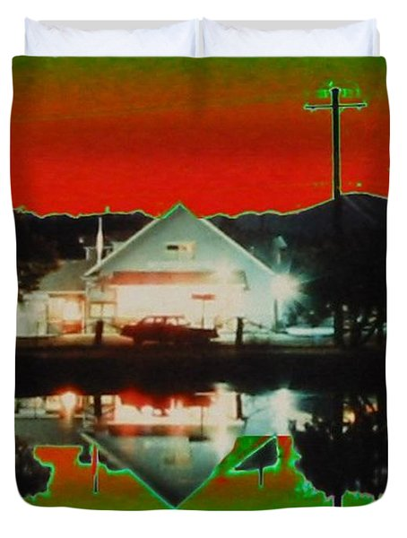 Seabeck General Store Duvet Cover by Tim Allen