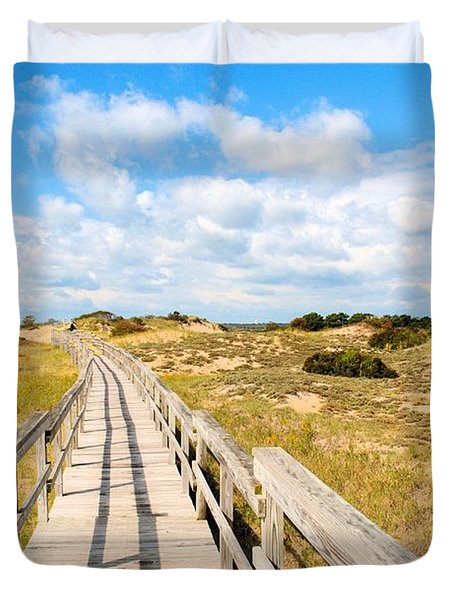 Seabound Boardwalk Duvet Cover