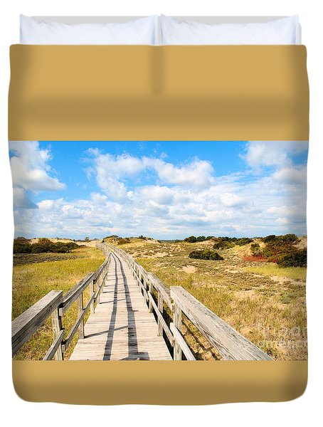Seabound Boardwalk Duvet Cover