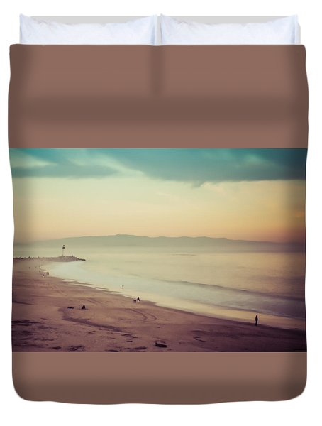 Duvet Cover featuring the photograph Seabright Dream by Lora Lee Chapman