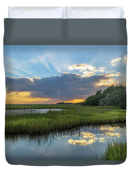 Seabrook Island Sunrays Duvet Cover