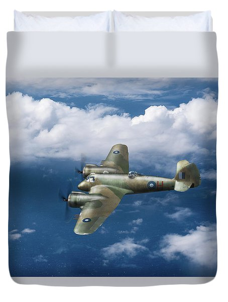Duvet Cover featuring the photograph Seac Beaufighter by Gary Eason