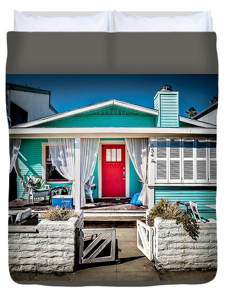 Duvet Cover featuring the photograph Seafoam Shanty by T Brian Jones