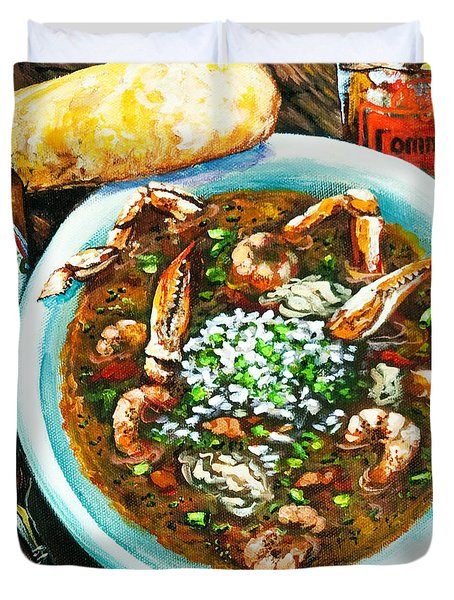 Seafood Gumbo Duvet Cover
