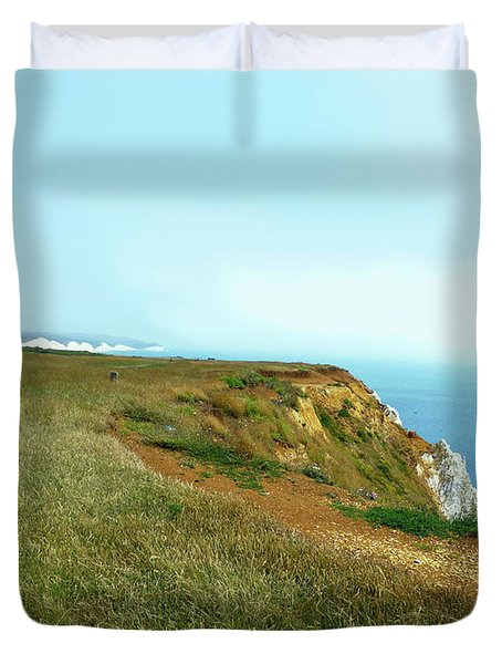 Duvet Cover featuring the photograph Seaford Coastal View 3 by Francesca Mackenney