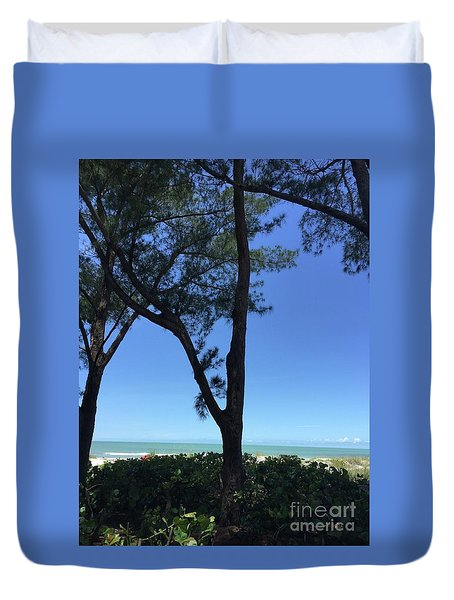 Seagrapes And Pines Duvet Cover