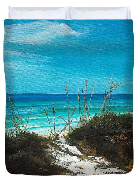 Seagrove Beach Florida Duvet Cover by Racquel Morgan