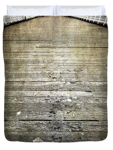 Seagull Bombing Run Duvet Cover by Meirion Matthias