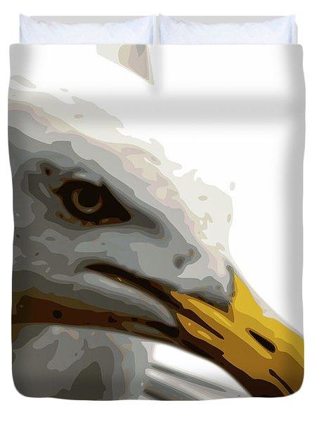 Seagull Closeup Duvet Cover