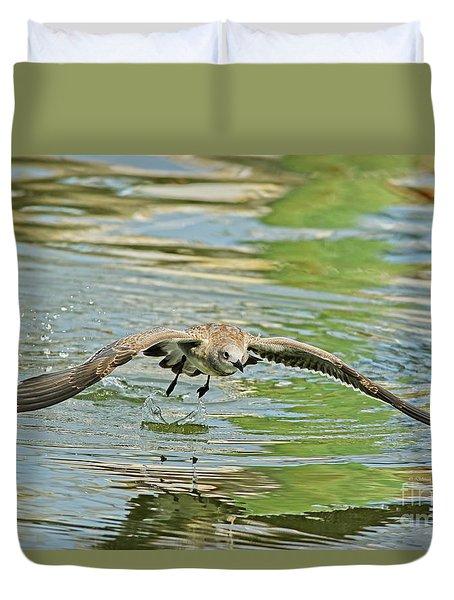 Seagull Fishing Duvet Cover by Deborah Benoit