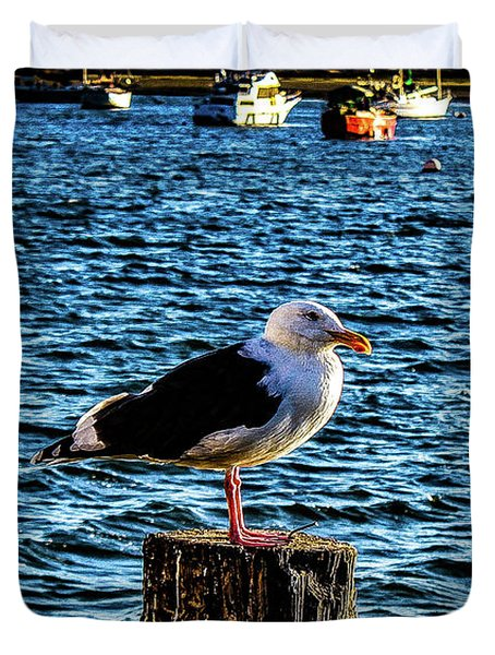 Seagull Perch Duvet Cover