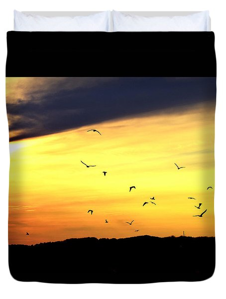 Seagull Sunset Duvet Cover