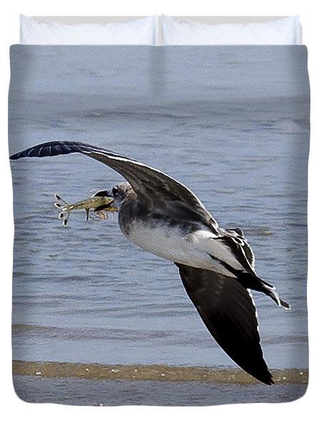 Seagull With Shrimp Duvet Cover