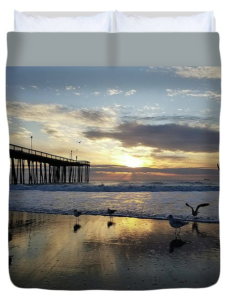 Seagulls And Salty Air Duvet Cover
