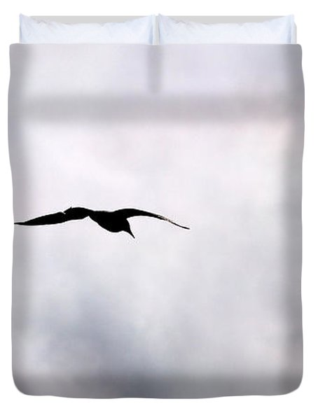 Duvet Cover featuring the photograph Seagull's Sky 2 by Jouko Lehto