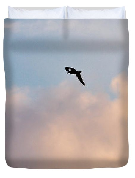 Duvet Cover featuring the photograph Seagull's Sky 3 by Jouko Lehto