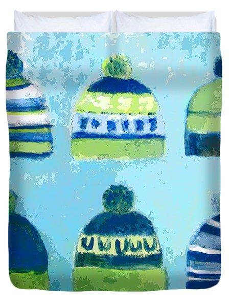 Seahawks Caps Duvet Cover