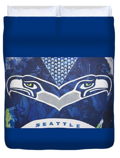 Seahawks Helmet Duvet Cover
