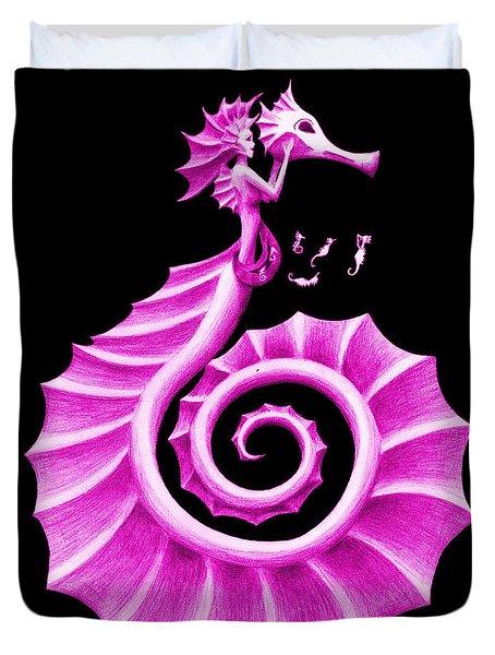 Seahorse Amy Purple Duvet Cover