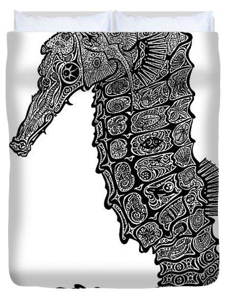 Seahorse Duvet Cover by Carol Lynne