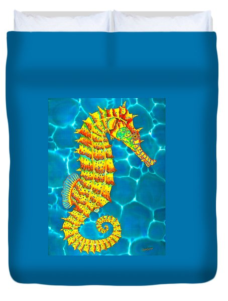 Seahorse - Exotic Art Duvet Cover
