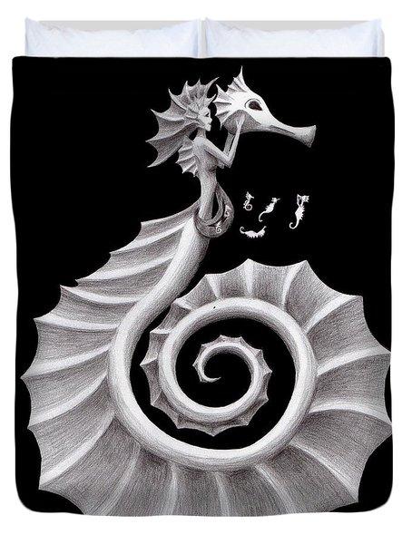 Seahorse Siren Duvet Cover