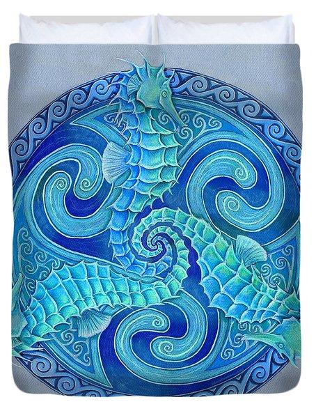 Seahorse Triskele Duvet Cover