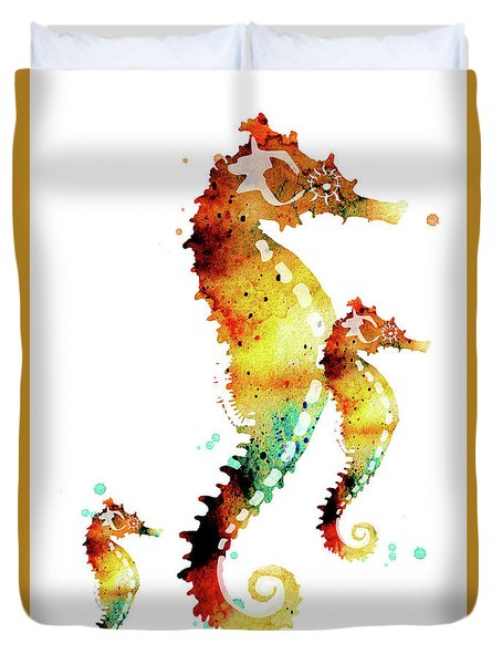 Seahorses Duvet Cover
